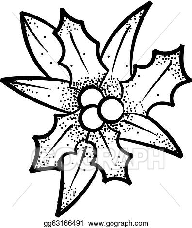 Holly Leaf Shape Coloring Coloring Pages
