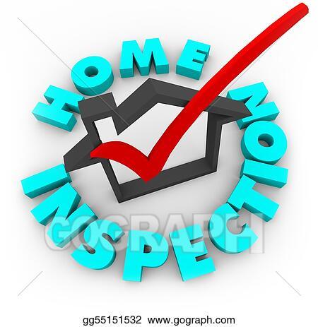 Stock Illustration Home Inspection Check Box Clip Art Gg55151532 Gograph