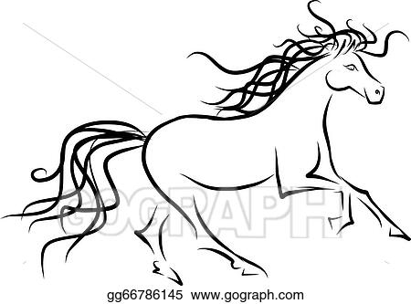 Horse Sketch For Your Design Symbol Of 2014 Year Gg66786145 on mustang painting
