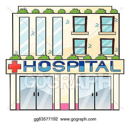 EPS Illustration - Hospital. Vector Clipart gg63577192 - GoGraph
