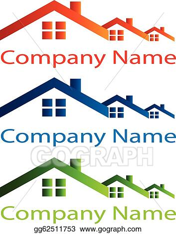 Eps Vector House Roof Logo For Real Estate Stock