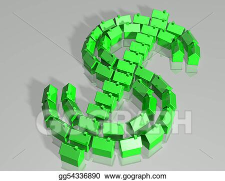 Housing market dollar symbol