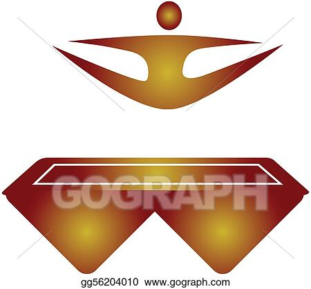 Related pictures jumping on troline clip art