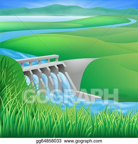 Hydro dam water power energy Water Energy Clipart