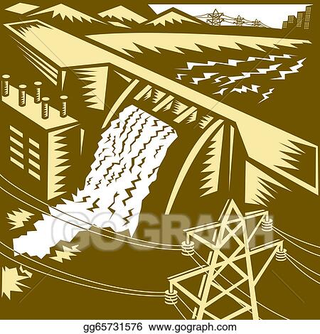 Hydroelectric Hydro Energy Dam Water Energy Clipart