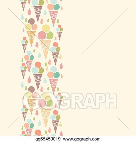 Ice cream cones vertical Vertical Ice Cream Border