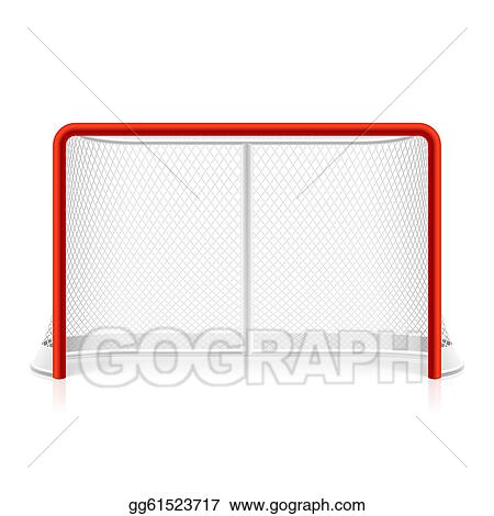 Cartoon Hockey Net Ice hockey net - royalty free