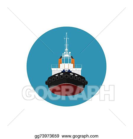Vector Stock - Icon tugboat for mooring of other courts. Stock ...