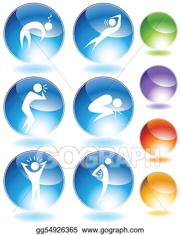 Illness Crystal Icon Set