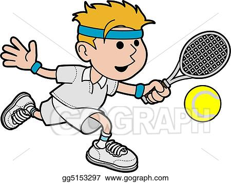 Illustration of male tennis player