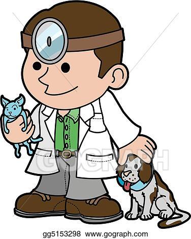 Vector Stock - Illustration of veterinarian with animals ...