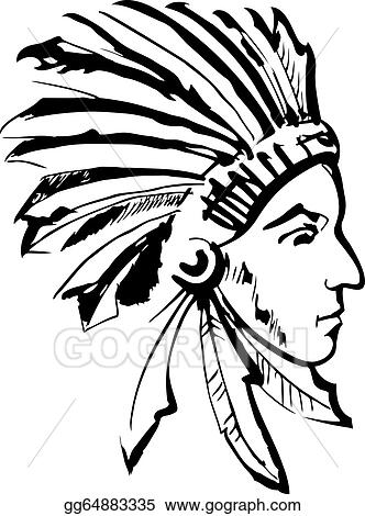 Indian chief (black and white)