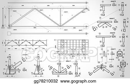 EPS Illustration - Industrial truss. Vector Clipart gg78210032 ...