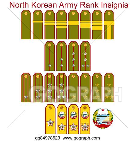 Clip Art Vector - Insignia of the north korean army. Stock EPS ...