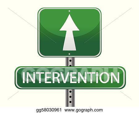 foto de Vector Illustration Intervention street sign concept