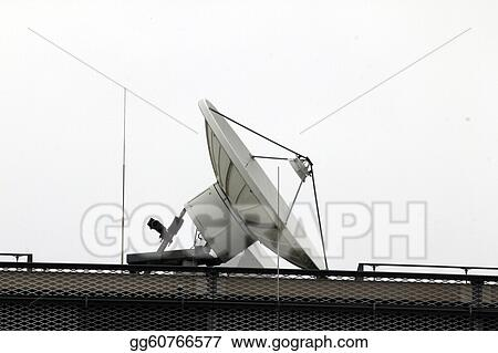 isolated big satellite dish