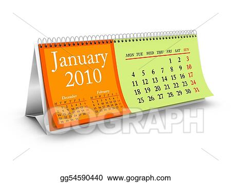 January 2010 Desktop Calendar