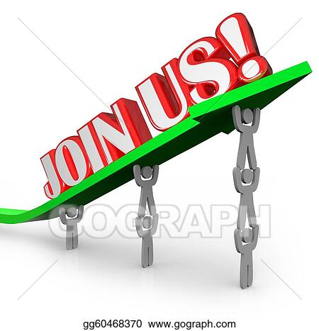 Stock Illustration - Join us team lifting arrow work together ...