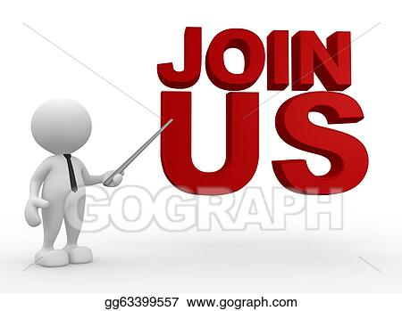 Stock Illustration - Join us. Clipart Drawing gg63399557 - GoGraph