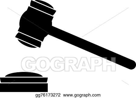 EPS Vector - Judge gavel icon. Stock Clipart Illustration ...