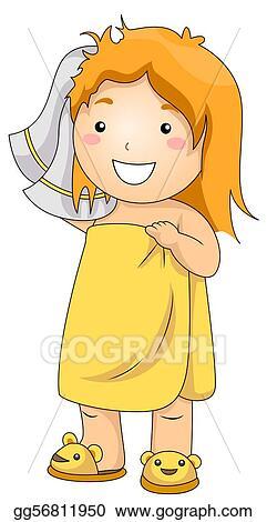 Stock Illustration - Kid bath. Clipart Drawing gg56811950 ...