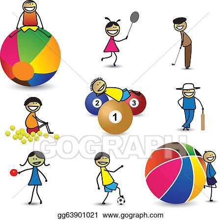 Kids Playing Games Clip Art Clip art gg63901021