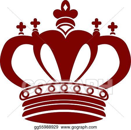 Vector Stock - King crown  Stock Clip Art gg55988929Red Queen Crown Clip Art