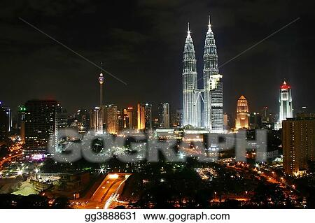 Kuala Lumpur City Night Scene