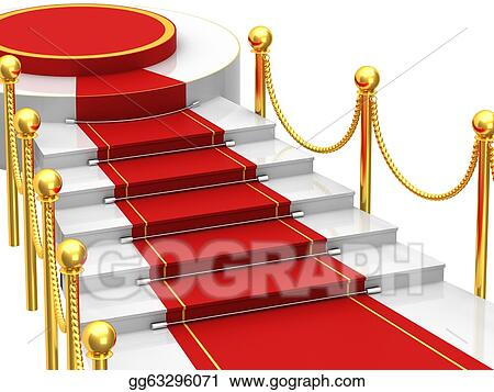 Clip Art Ladders With Red Carpet Stock Illustration