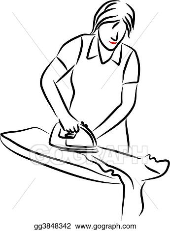 Lady Ironing