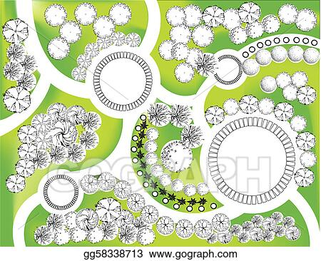 Clip Art Vector Landscape Plan Stock Eps Gg58338713