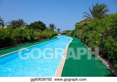 landscape with nobody swimming pool 