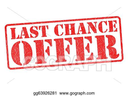 Stock Illustration Last Chance Offer Clipart Drawing