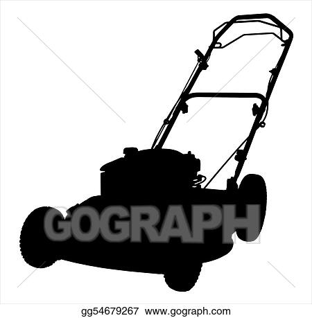 Lawn Mower Clipart Black And White Lawnmower silhouette