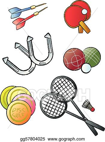 Vector Illustration - Leisure games. EPS Clipart ...
