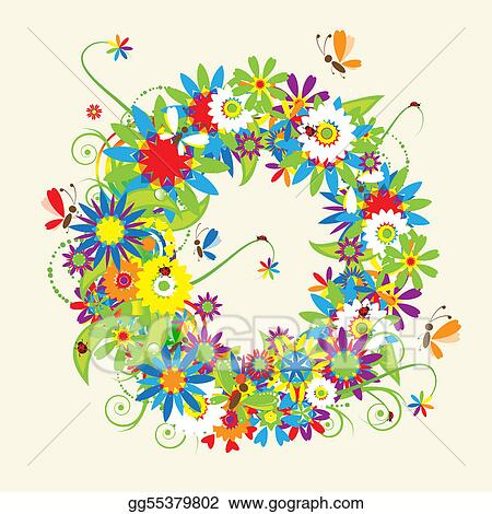 O Alphabet Design EPS Vector - Letter o, floral design. see also letters in my gallery ...