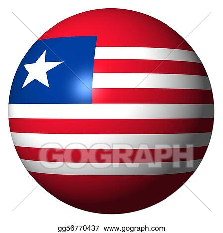 Liberia flag sphere illustration