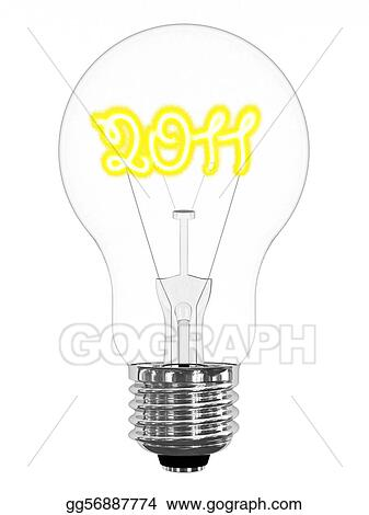 Lightbulb with sparkling 2011 digits inside