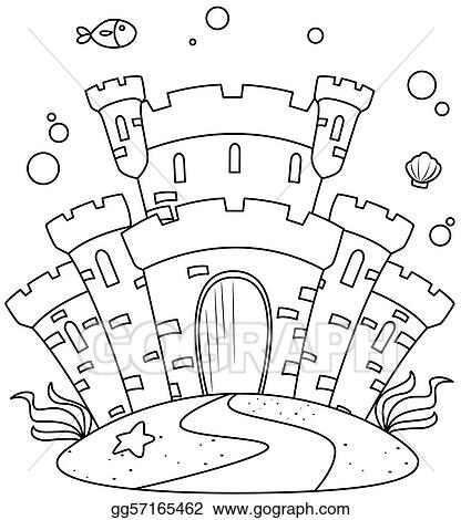 Fish Tank Castle Coloring Pages Galleryhipcom The