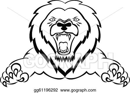 Lion Attacking