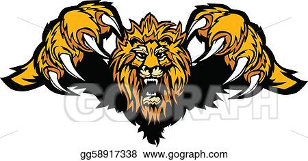 Vector Illustration - Lion mascot pouncing graphic vector. EPS ...