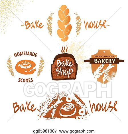 Vector Illustration - Logo for fresh bakery products from wheat ...