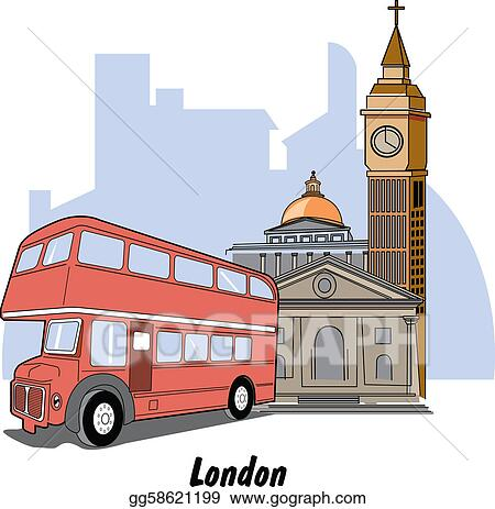 London England Big Ben & Bus