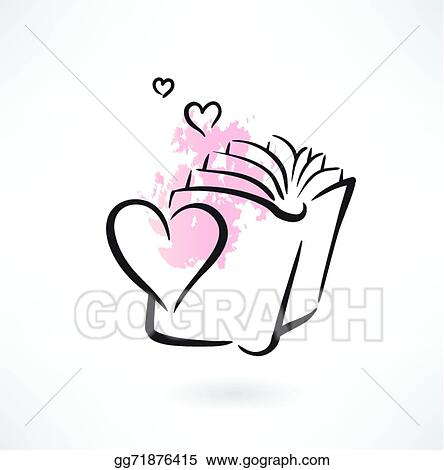 Vector Art - Love book grunge icon. Clipart Drawing gg71876415 ...