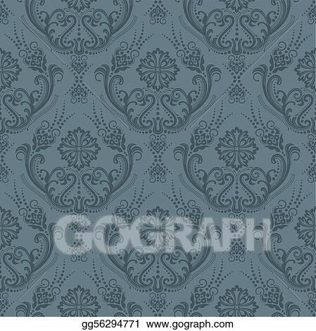 Luxury grey floral wallpaper