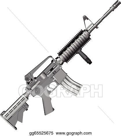 Crossed Assault Rifles Illustration vector Weapons Stock ...  Crossed Guns M4