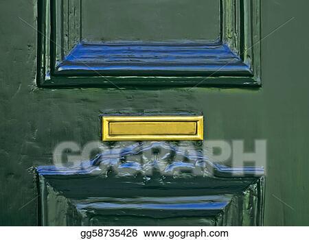 Mail Slot on Green Door