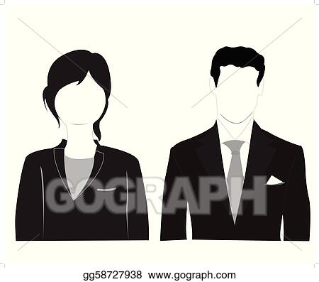 Male and feminine silhouettes on white background