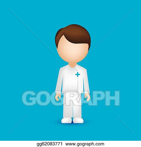 Male Nursing Clip Art Male nurse - royalty free clip