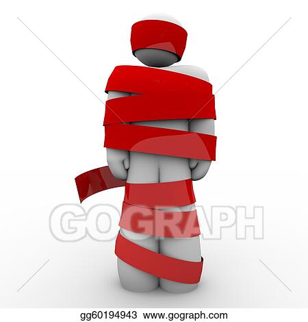 man-wrapped-in-red-tape-hostage-or-paralyzed-no-movement_gg60194943.jpg